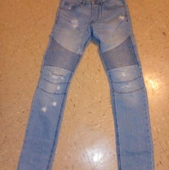 H M Jeans Mens Hm Distressed Biker Poshmark
